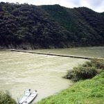 高知県四万十川 岩間沈下橋(台風通過後で増水)