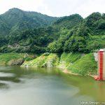 大石ダムのグリーンベルト