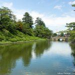 米沢城舞鶴橋と堀