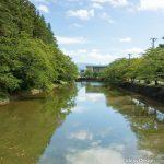 米沢城菱門橋からの堀